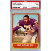 1963 Topps Football #107 Jim Marshall RC PSA 7 (NM) *3258 (Reed Buy)