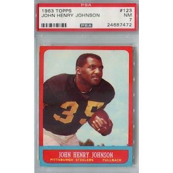 1963 Topps Football #123 John Henry Johnson PSA 7 (NM) *7472 (Reed Buy)