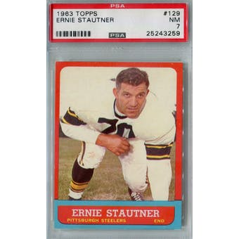 1963 Topps Football #129 Ernie Stautner PSA 7 (NM) *3259 (Reed Buy)
