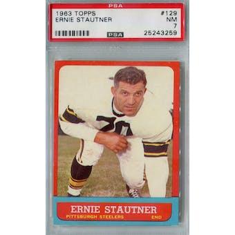 1963 Topps Football #129 Ernie Stautner PSA 7 (NM) *3259 (Reed Buy)