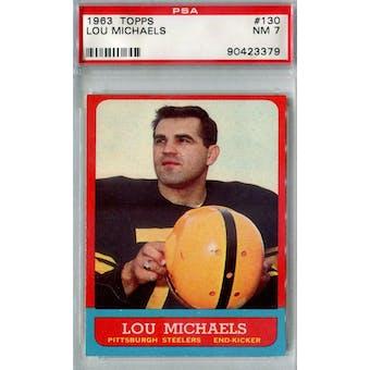 1963 Topps Football #130 Lou Michaels PSA 7 (NM) *3379 (Reed Buy)