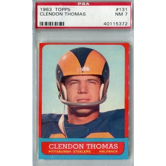 1963 Topps Football #131 Clendon Thomas PSA 7 (NM) *5372 (Reed Buy)