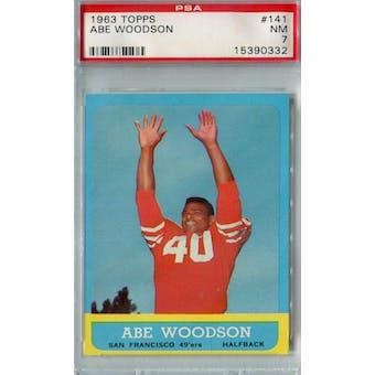 1963 Topps Football #141 Abe Woodson PSA 7 (NM) *0332 (Reed Buy)