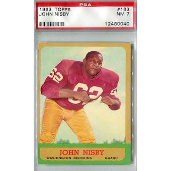 1963 Topps Football #163 John Nisby PSA 7 (NM) *0040 (Reed Buy)