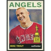 2013 Topps Heritage #430A Mike Trout No Hat SP