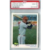 1992 Classic Best Durham Bulls Baseball #1 Chipper Jones PSA 10 (Gem Mint) *5080 (Reed Buy)