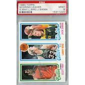 1980/81 Topps Basketball Scott May/Larry Bird/Jack Sikma PSA 9 (Mint) *1220 (Reed Buy)