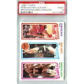 1980/81 Topps Basketball Junior Bridgeman/Larry Bird/Ron Brewer PSA 9 (Mint) *1687 (Reed Buy)
