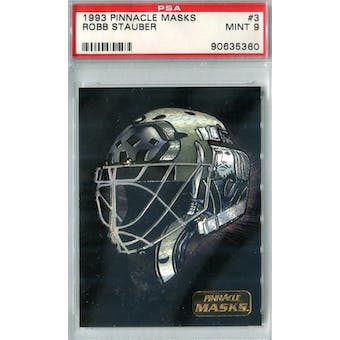 1993/94 Pinnacle Masks Hockey #3 Robb Stauber PSA 9 (Mint) *5360 (Reed Buy)