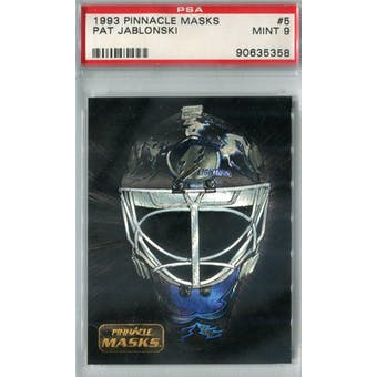 1993/94 Pinnacle Masks Hockey #5 Pat Jablonski PSA 9 (Mint) *5358 (Reed Buy)