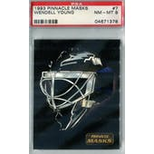 1993/94 Pinnacle Masks Hockey #7 Wendell Young PSA 8 (NM-MT) *1378 (Reed Buy)