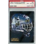 1993/94 Pinnacle Masks Hockey #9 John Vanbiesbrouck PSA 8 (NM-MT) *1372 (Reed Buy)