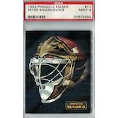 1993/94 Pinnacle Masks Hockey #10 Peter Sidorkiewicz PSA 9 (Mint) *3382 (Reed Buy)
