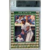 1992 Donruss Elite Baseball #10 Joe Carter #/10,000 BGS 9 (Mint) *8832 (Reed Buy)