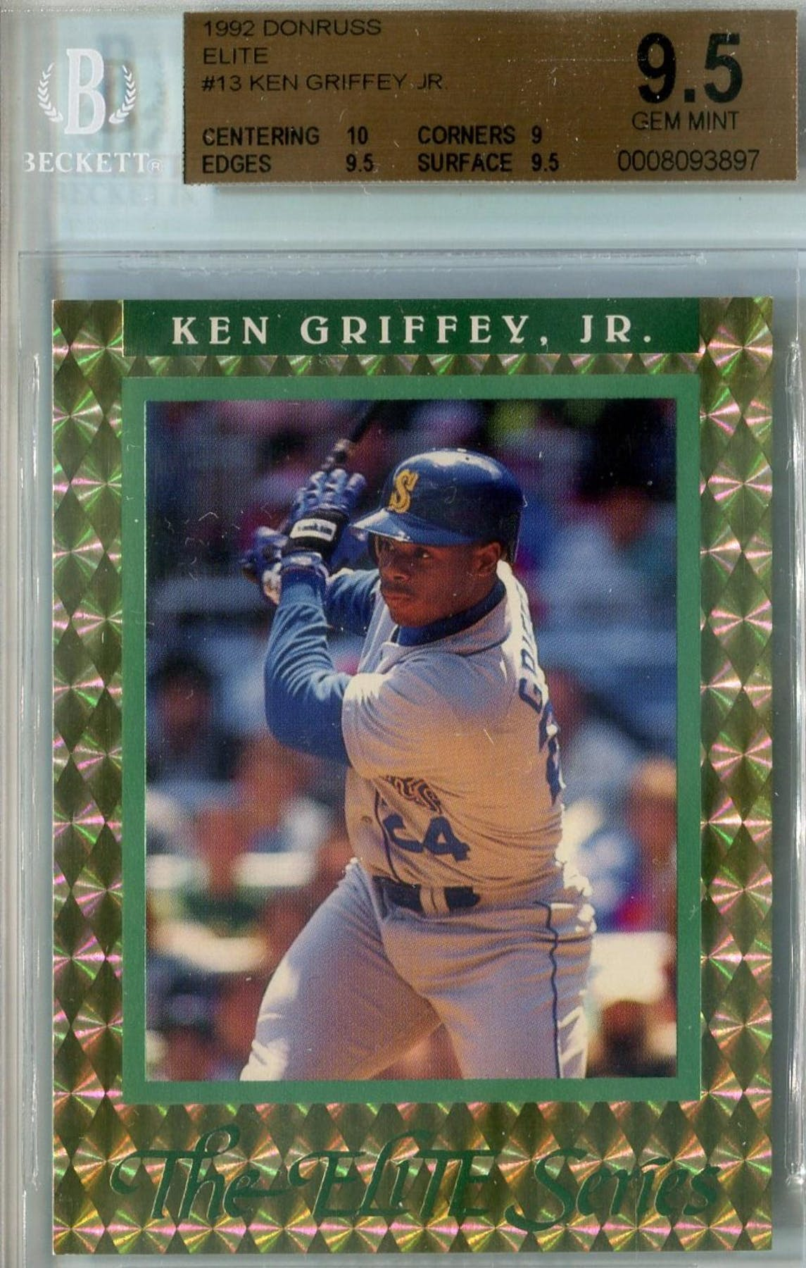 super popular c268c 69a8d 1992 Donruss Elite Baseball #13 Ken Griffey Jr. #/10,000 BGS 9.5 (Gem Mint)  *3897 (Reed Buy)
