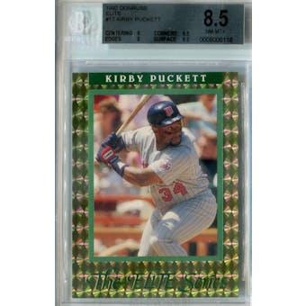 1992 Donruss Elite Baseball #17 Kirby Puckett #/10,000 BGS 8.5 (NM-MT+) *6118 (Reed Buy)