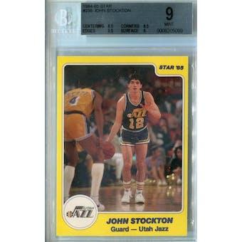 1984/85 Star Basketball #235 John Stockton XRC BGS 9 (Mint) *5099 (Reed Buy)