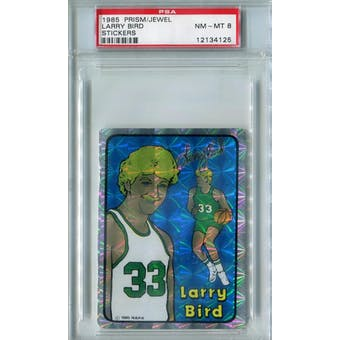 1985 Prism/Jewel Stickers Basketball Larry Bird PSA 8 (NM-MT) *4125 (Reed Buy)