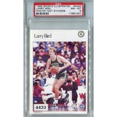 1986 Sports Illustrated Test Stickers Basketball #4433 Larry Bird Poster PSA 8 (NM-MT) *7261 (Reed Buy)