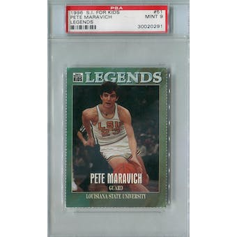 1996 S.I. for Kids Basketball #51 Pete Maravich Legends PSA 9 (Mint) *0291 (Reed Buy)