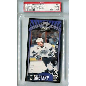 1993 Lakers Forum Hockey #10 Wayne Gretzky PSA 9 (Mint) *5404 (Reed Buy)