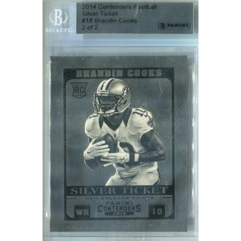 2014 Contenders Football Silver Ticket Football #18 Brandin Cooks #/2 .999 Silver (Reed Buy)