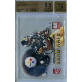 2013 Elite Rookie Hard Hats Autographs Football #10 Le'Veon Bell #/199 BGS 9.5 Auto 10 *7895 (Reed Buy)