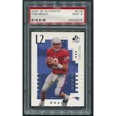 2000 SP Authentic #118 Tom Brady Rookie #1246/1250 PSA 9 (MINT)