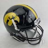 George Kittle Autographed Iowa Hawkeyes Full Size Replica Helmet (Tristar COA)