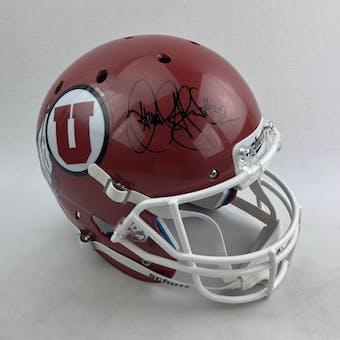 Jamal Anderson Autographed Utah Utes Full Size Replica Helmet (DACW COA)