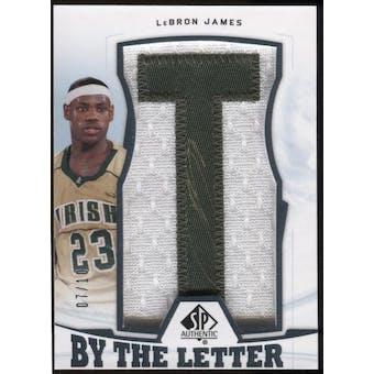 2013/14 SP Authentic LeBron James Auto Letter Card #BL-LJ #7/10