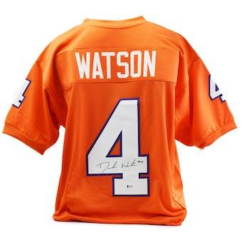 Deshaun Watson Autographed Clemson Tigers Custom Football Jersey (Beckett COA)