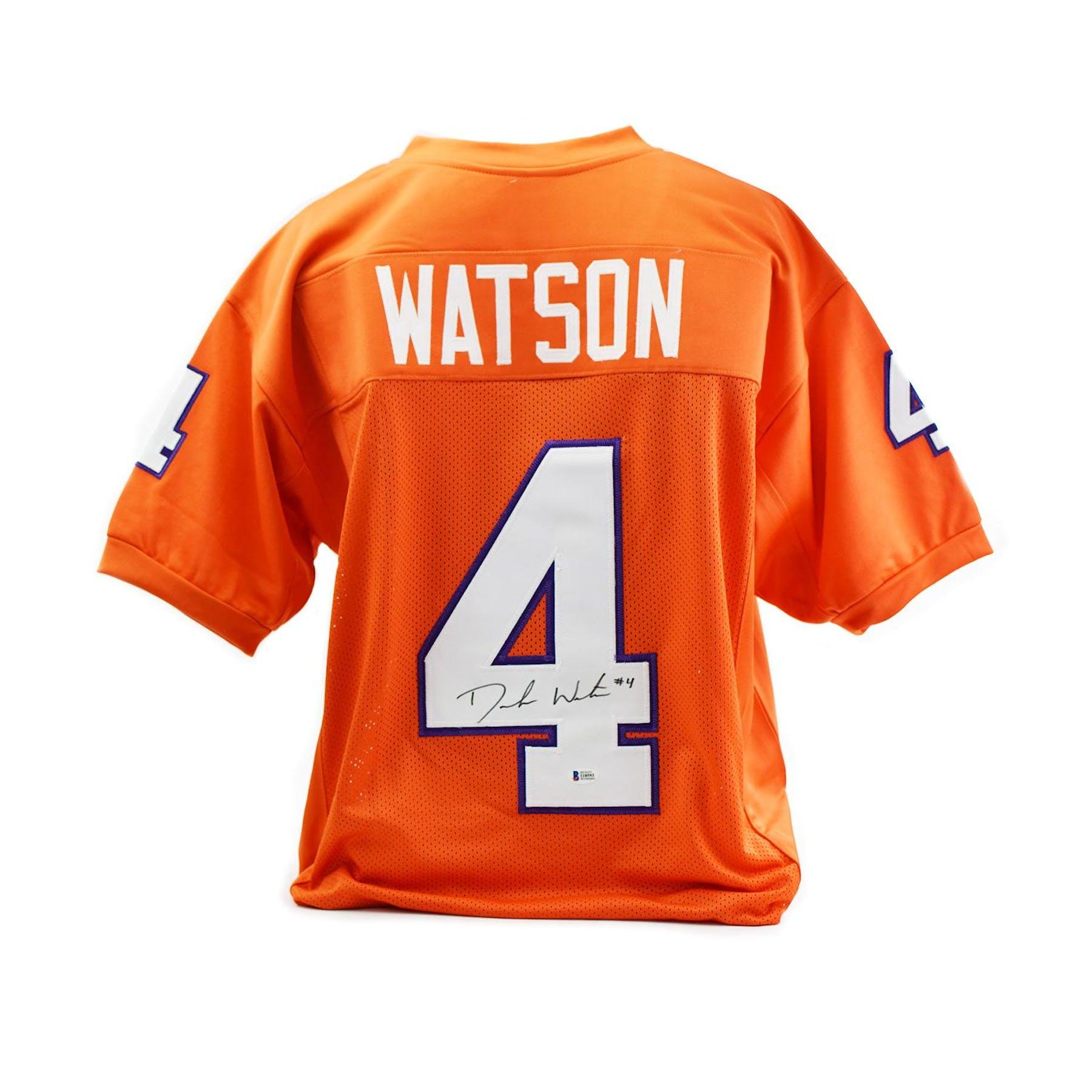 best service a267a acf7a Deshaun Watson Autographed Clemson Tigers Custom Football Jersey (Beckett  COA)