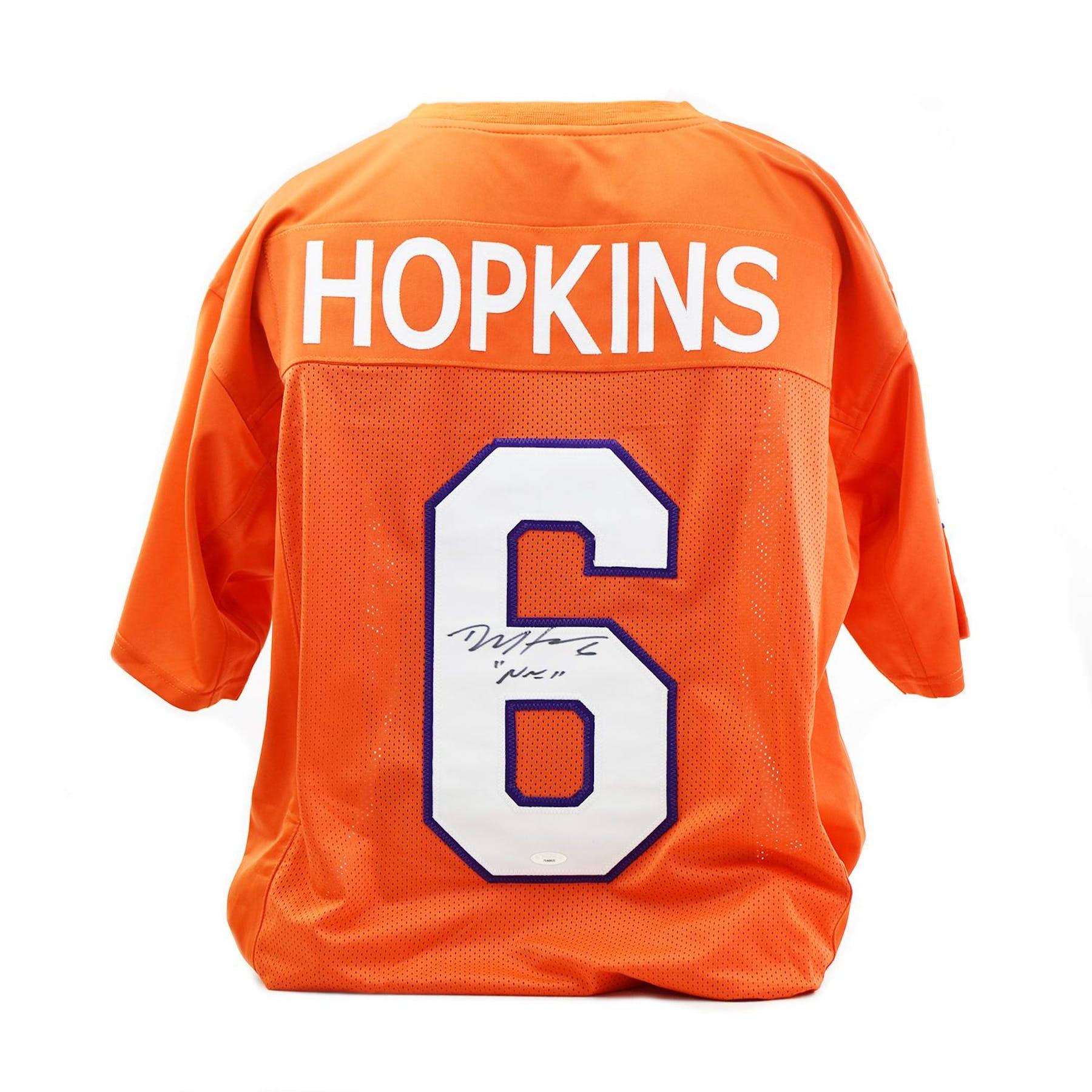 size 40 e7a3e 03796 DeAndre Hopkins Autographed Clemson Tigers Custom Football Jersey (Tri-Star  COA)