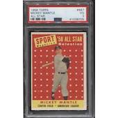 1958 Topps Baseball #487 Mickey Mantle All Star PSA 3 (VG)
