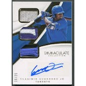 2018 Immaculate Collection #2 Vladimir Guerrero Jr. Immaculate Triple Material Patch Auto #10/25