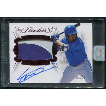 2018 Panini Flawless 31 Vladimir Guerrero Jr Rookie Ruby Patch Auto 0320
