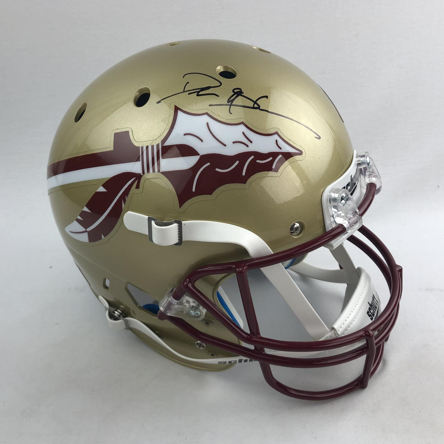 sale retailer 9557d ddba6 Deion Sanders Autographed Florida State Seminoles Full Size Replica Helmet  (Beckett COA)