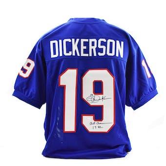 Eric Dickerson Autographed SMU Mustangs Custom Football Jersey (JSA COA)