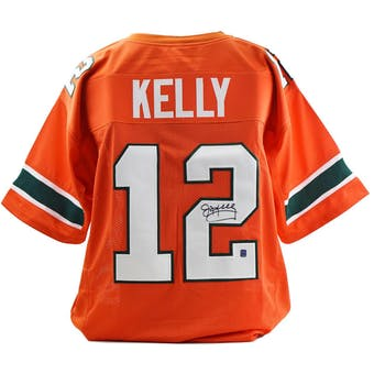 Jim Kelly Autographed Miami Hurricanes Custom Football Jersey (DACW COA)