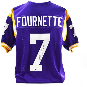 Leonard Fournette Autographed LSU Tigers Custom Football Jersey (Beckett COA)