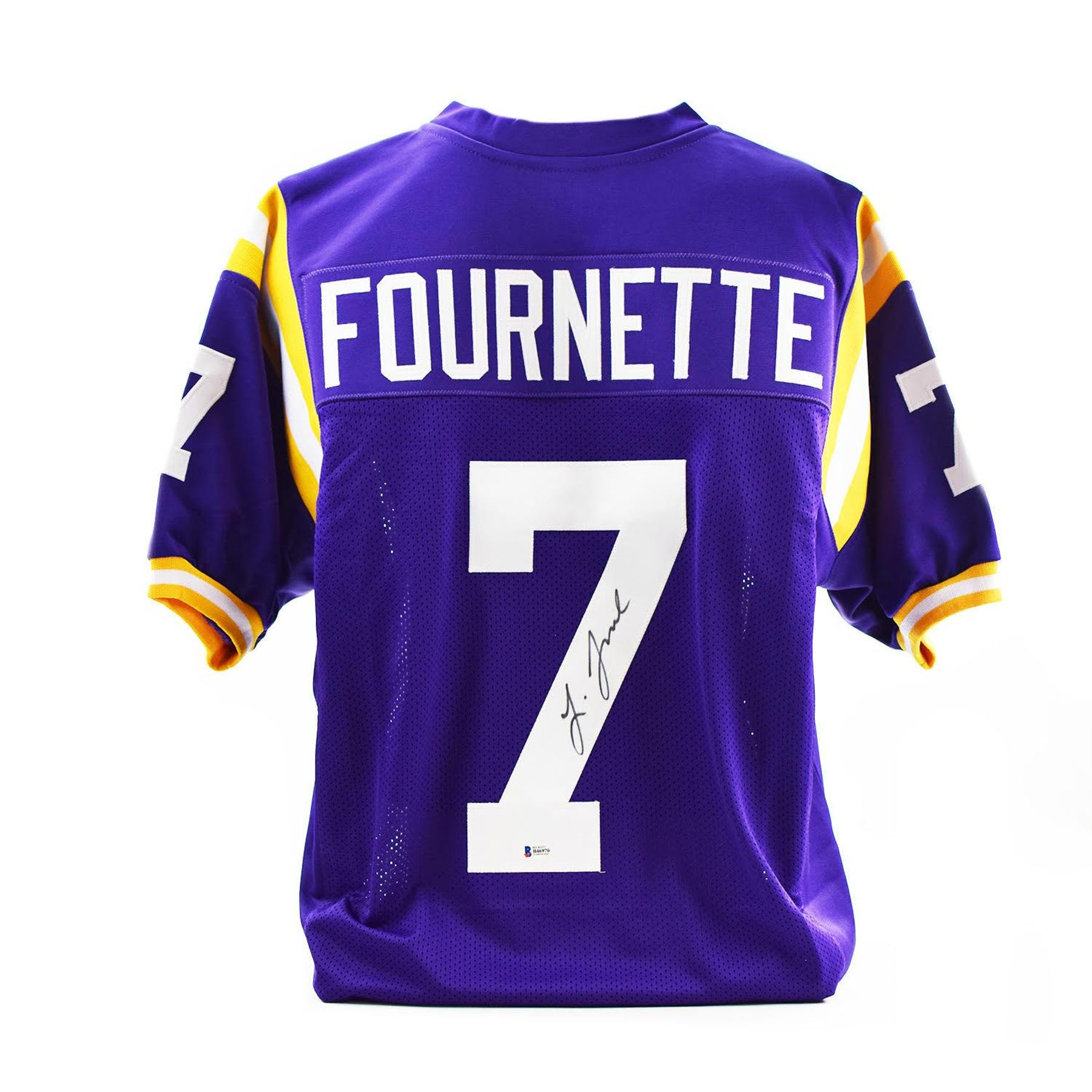 new style a36ab 324d7 Leonard Fournette Autographed LSU Tigers Custom Football Jersey (Beckett  COA)