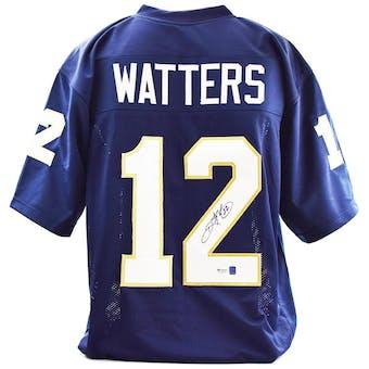 Ricky Watters Autographed Notre Dame Custom Football Jersey (DACW COA)
