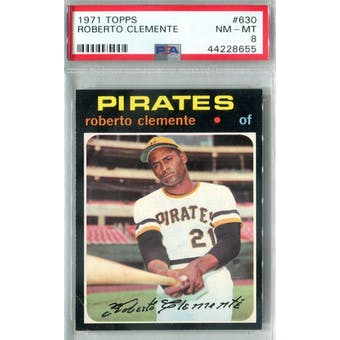 1971 Topps Baseball #630 Roberto Clemente PSA 8 (NM-MT) *8655 (Reed Buy)