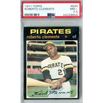 1971 Topps Baseball #630 Roberto Clemente PSA 7.5 (NM+) *8654 (Reed Buy)