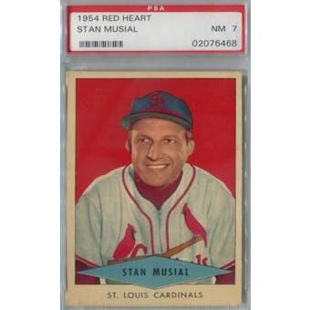 1954 Red Heart Baseball Stan Musial PSA 7 (NM) *6468 (Reed Buy)