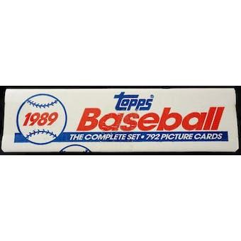 1989 Topps Baseball Factory Set (White Box) (Reed Buy)