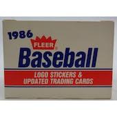 1986 Fleer Update Baseball Factory Set (Reed Buy)