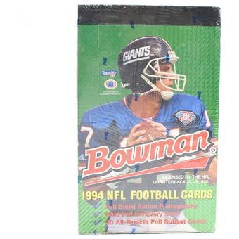 1994 Bowman Football Hobby Box (Reed Buy)