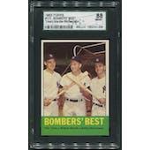 1963 Topps Baseball #173 Bomber's Best Mickey Mantle SGC 88 (NM-MT)